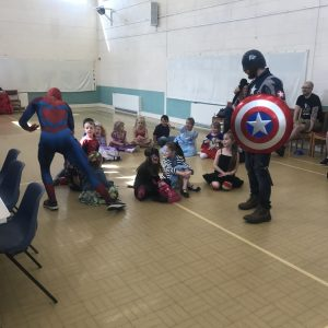 Spider Man and Captain America Party