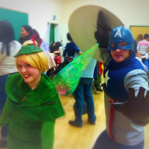 Tinker Bell and Captain America