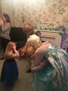 Elsa and Anna Frozen Christmas Eve Visits Nottingham