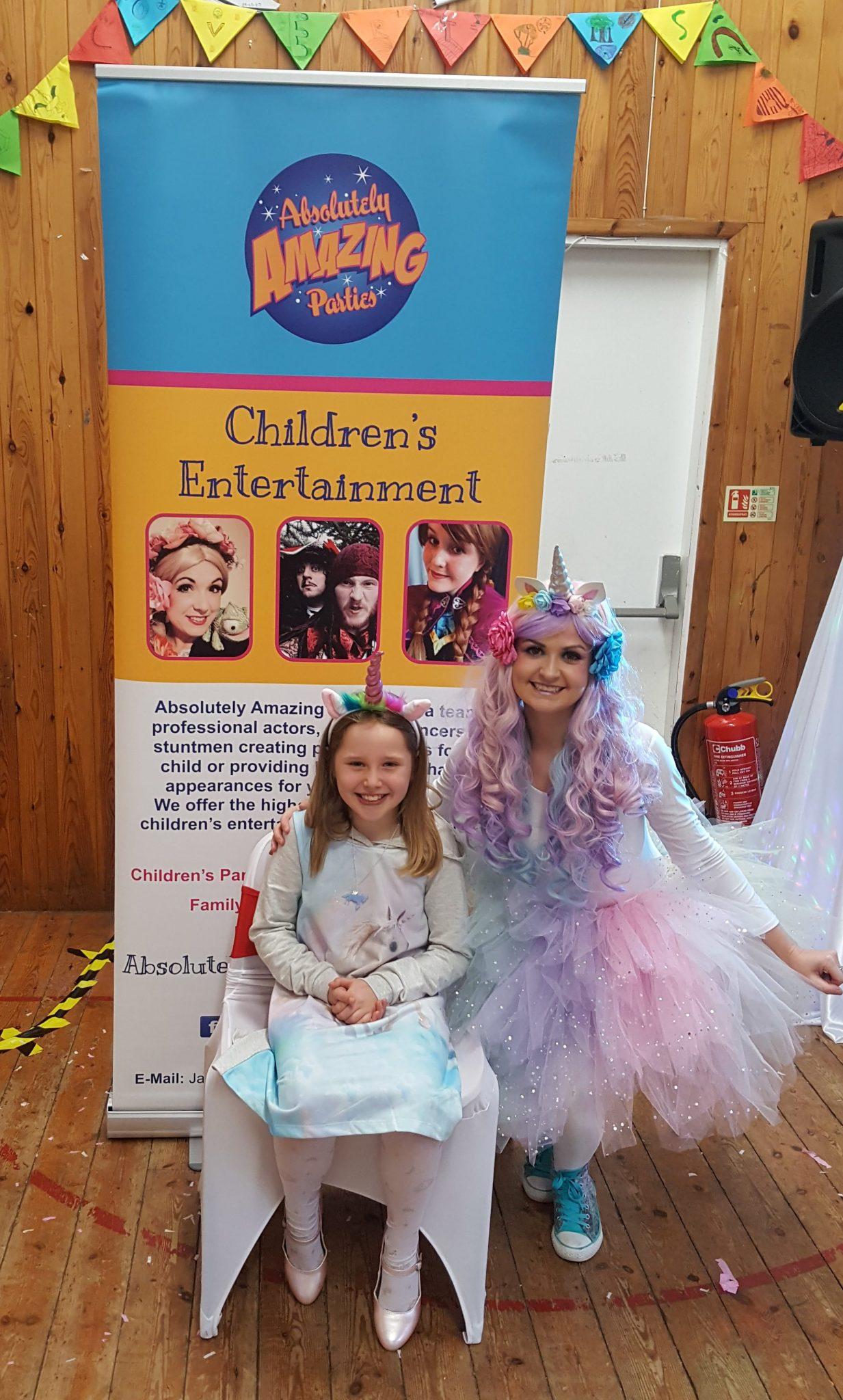 Unicorn parties for children Nottingham