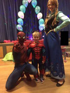 Spider Man and Princess Anna Derby