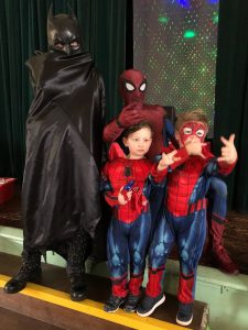 Batman and Spider Man | Mascots | Loughborough