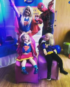 Super Girl Party Mascot