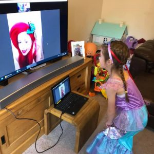 Virtual Video Call with Ariel